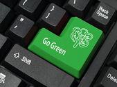 行く緑のキー — ストック写真