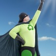 Eco superhero looking towards the Sun — Stock Photo #23483275
