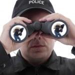 Spotted burglar — Stock Photo