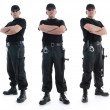 Stock Photo: Three security guards