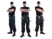 3 つのセキュリティ ガード — ストック写真