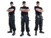 Three security guards — Foto de Stock