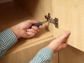 Möbler montering — Stockfoto