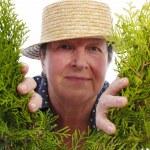 Happy senior gardener — Stock Photo #26969457