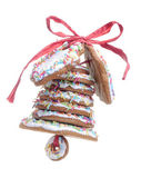 Christmas gingerbread bell — Stock Photo