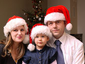Christmas family portrait — Foto Stock