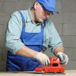 Sanding work — Stock Photo