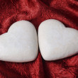 Stock Photo: Two heart-shaped gingerbread cakes