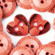 Two heart buttons — Stock Photo