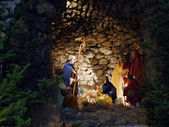 рождественская вертепная композиция — Стоковое фото