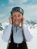 Happy skier — Stock Photo