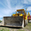 Stock Photo: Backhoe loader