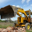 Backhoe loader at work — Stock Photo