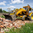 Stock Photo: Backhoe loader at work