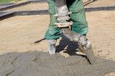 Concrete mix pouring — Stock Photo