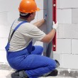 Stock Photo: Plumber at work
