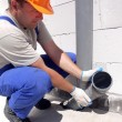 Plumber at work — Foto de Stock