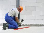 Plumber at work — Stock Photo