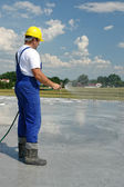 Concrete curing — Stock Photo