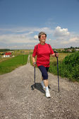 Nordic walking — Foto Stock