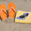 Beach accessories — Stock Photo
