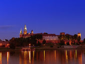 Wawel Castle by night — Stock Photo