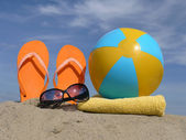 Beach accessories — Stockfoto