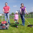 Stock Photo: Family gardening