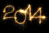 Sparking 2014 Year — Stock Photo