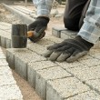Paving work — Foto Stock
