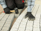 Paving work — Stock Photo