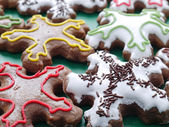 Star-shaped gingerbread cookies — Stock Photo