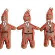 Three gingerbread santa clause cookie figures — Stock Photo #36016535