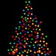 Stock Photo: Christmas tree lights