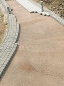Unfinished pavement path — Stock Photo