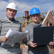 Building engineers — Stock Photo