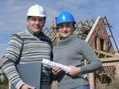 Building engineers — Stock Photo