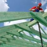 costruzione del tetto — Foto Stock