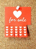 Heart for sale — Foto de Stock