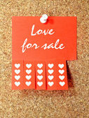Love for sale — Stock fotografie