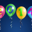 Stock Photo: New Year 2014 balloons