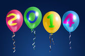 New Year 2014 balloons — Стоковое фото