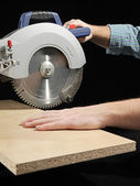 Plank sawing — Stock Photo