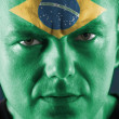 Brazilian supporter — Stock Photo
