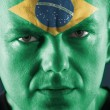 Stock Photo: Brazilian supporter
