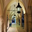 Stock Photo: Gothic arcades by night