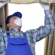 Attic thermal insulation — Stock Photo #40693741