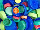 Plastic tops and caps — Stock Photo