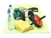 Fitness workout set — Stock Photo