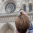 Zooming on Notre Dame Cathedral — Stock Photo